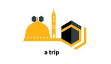 The Logo Of The Umrah And Hajj Trip To Makkah And Madinah