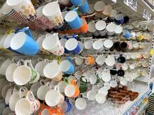 Closeup Shot Of A Color Full Coffee Mugs