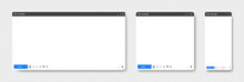 Browser Window. Web Browser In Flat Style. Internet Browser Window Concept. Vector Illustration.