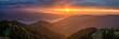 canvas print picture - Sonnenuntergang mit Regenwolken