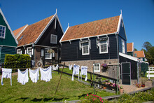Old And Traditional Dutch House In Marken, Ijsselmeer, The Netherlands.