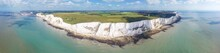 Panorama Of White Cliffs Of Dover