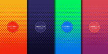 Abstract Colorful Halftone Gradients Set. Future Geometric Patterns. Minimal Covers Design. Vector Eps10