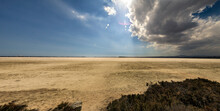 The Larnaca Salt Lake On The Outskirts Of The City In Cyprus