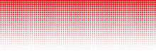 Horizontal Red Blended Heart On White For Pattern And Background