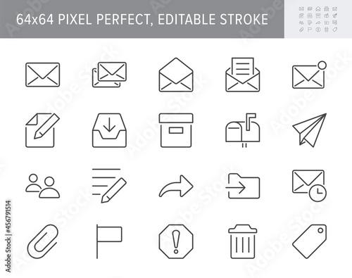 Fotografie, Obraz Mail line icons