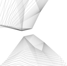Abstract Architecture Design Digital Drawing
