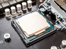 A Central Processor Device, A CPU, An Electronic Unit Or An Integrated Circuit That Executes Machine Instructions, Program Code, The Main Part Of The Computer Hardware
