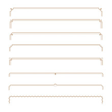 Set Of Vintage Frames. Vector Elements Isolated On White Backgrounds. EPS10.