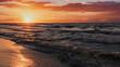Zachód słońca nad Morzem Bałtyckim