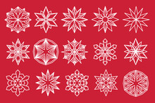 Snowflake Vector Set. Snow Flake Isolated Icon Collection