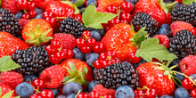 Berries Fruits Berry Fruit Strawberries Strawberry Blueberries Blueberry Panorama