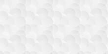 White Seamless Circle Background. Vector Illustration