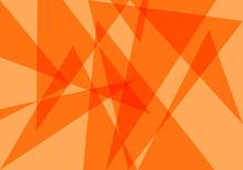 Fondo Otoñal De Triángulos Transparentes Naranjas.