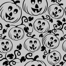 Seamless Pattern With Pumpkins For Your Design.