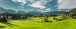 canvas print picture - Landschaft bei Oberstdorf im Allgäu mit Blick auf die Allgäuer Hochalpen