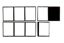 Medium Format Film Frame.With White Space.