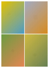 Distorted Triangle, Square, Pentagon And Circle Gradient Set. Geometric Shapes And Gradient Set
