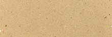 Panorama Of Clean Brown Fine Sand For Use As A Background