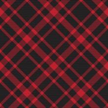 Red Diagonal Plaid Tartan Textured Seamless Pattern Design