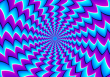 Blue Background With Spin Illusion.