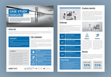 Business Case Study Layout with Blue Accents