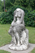 Headless Statue Of A Woman In Crystal Palace Park, London, UK.