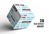 3D Text Effect Mockup