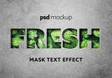 Mask Text Effect Mockup
