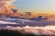 Leinwandbild Motiv Foggy mountains