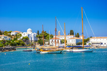 View Of The Amazing Island Of Spetses, Greece.