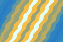 Illustration Of A Background With Yellow Wavy Lines On A Blue Color