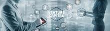 Businessman Touching Finger Venture Capital. Mixed Media