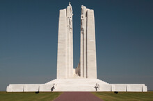 The Central Pylons At The Canadian World War One Memorial At The Vimy Ridge National Historic Site Of Canada, Vimy, France.