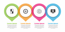Set Greek Shield, , Minotaur Labyrinth And Ancient Column. Business Infographic Template. Vector