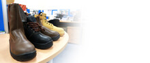 Safety Shoes Made Of Leather. These Shoes Have Two Functions, For Fashion And To Protect The Feet. Workers Wear These Shoes When Working To Protect Their Feet From Collisions With Hard Objects