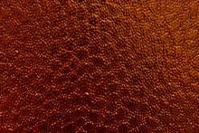 Bumpy Texture Orange Colored Glass