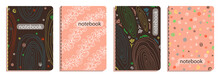 Cover Templates For Notebooks, Notebooks, Planners, Diaries. Hand Drawn Pattern, Modern Design Vector Illustration.