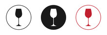 Set Of Icons. Wine Glass.