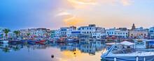 Panorama Of The Port On Sunset, Bizerte, Tunisia