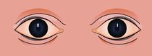 Vintage Retro Sticker. Modern Flat Vector Concept Illustrations. Human Eyes. Social Media Ads.