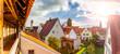 canvas print picture - Stadtansicht von der Altstdt Nördlingen in Bayern
