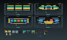 Set Of Mobile Brick Game Assets