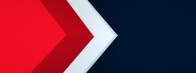 Triangle Arrow Corner Background Overlap Layer For Design, 3d Render, Panoramic Layout