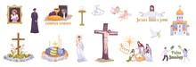 Christianity Holidays Realistic Set
