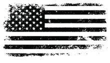 USA Flag. Distressed American Flag With Splash Elements, Flag Of America, Patriot, Military Flag