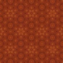 Beautiful Orange Damask Pattern For Background