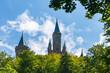 canvas print picture - Turmspitzen der Festung Hohenzollern auf der schwäbischen Alb nahe Stuttgart, Deutschland