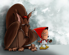 Little Red Hood And The Big Bad Wolf