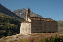 The Beautiful St Margaret's Chapel Not Far From Bonneval Sur Arc In Vanoise